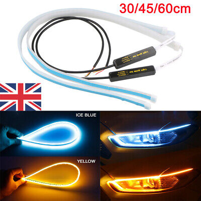 2x Sequential LED Strip Turn Signal Indicator DRL Daytime Running Light Car Lamp • 7.88£