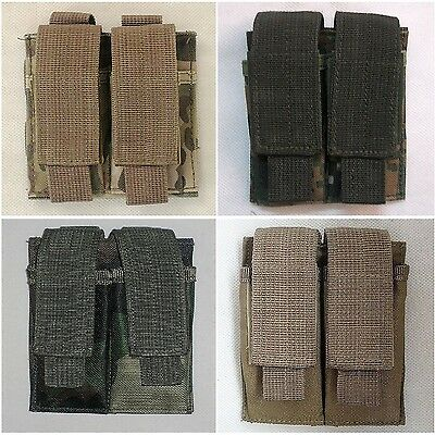 $ CDN8.64 • Buy New Airsoft Molle Double 9mm Ammo Stack Mag Pouch Holder Nylon