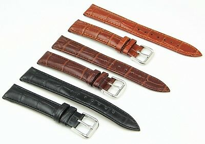 £4.50 • Buy Genuine Leather Watch Strap Buckle With Spring Bars For Timex Accurist BUREI KDM