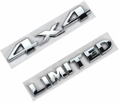 $13.59 • Buy 1x Chrome 4 X 4 3D Decal Emblem + LIMITED For Fits Grand Cherokee Auto Car SUV