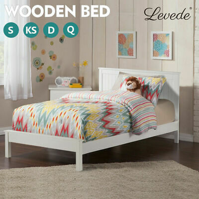 AU238.99 • Buy Levede Wooden Bed Frame Mattress Base Queen Double King Single Timber Platform