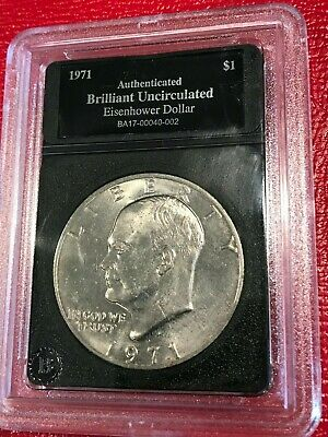 $5.45 • Buy Brilliant Uncirculated 1971 D Eisenhower One Dollar Coin-oct471