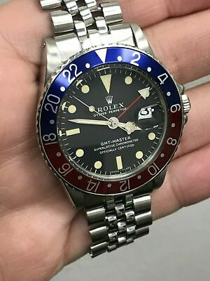$ CDN24022.42 • Buy Vintage Rolex GMT Master 1675 Pepsi Red And Blue 1970 MINT Original DIAL