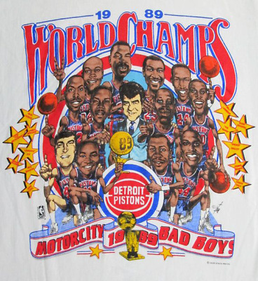 $ CDN28.41 • Buy Vintage Detroit Pistons NBA Champions Caricature T-Shirt New S M L 234XL P670