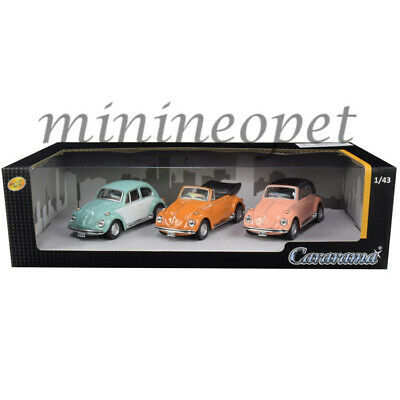 Cararama 35309 Vw Volkswagen Beetle 3 Piece Gift Set 1/43 Diecast Model Cars • 10.80£