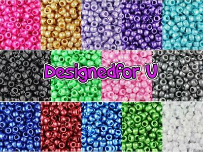 *3 FOR 2*   100 9x6mm Pearl Barrel Highest Beautiful Quality Pony Beads  • 2.50£