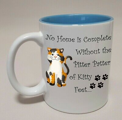 £6.99 • Buy Mugs-The Purrfect Gift For Cat Lovers-Pitter Patter Of Kitty Feet-Mug