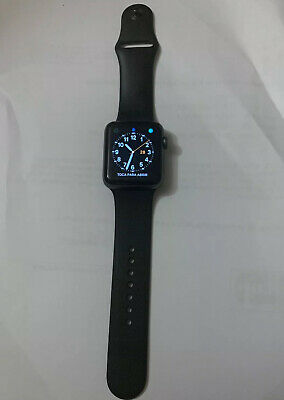 $ CDN356.61 • Buy AppleWatch Series 3 (GPS) 42mm Space Gray Aluminum Case With Black Sport...