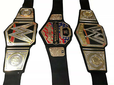 $35 • Buy WWF WWE Lot Of 3 Championship Belts US Champ Kids Play Replica 38  Inches
