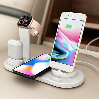 AU24.89 • Buy 3 In1 Fr IPhone X XS 11 Pro Max Qi Wireless Charger Charging Station Dock Stand