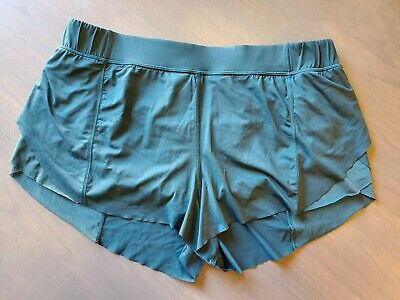 $39.99 • Buy Lululemon  Run Speed Shorts  Pine Green Pockets Lined  Continuous Drawcord 12