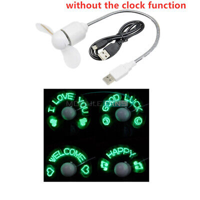 AU7.12 • Buy Mini USB LED Clock Fan Powered Cooling Flashing NO Real Time Function Display