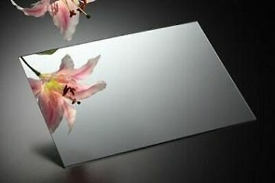 Silver Acrylic Mirror Perspex Sheet Plastic Material Panel A6 A5 A4 A3 & More • 5.10£