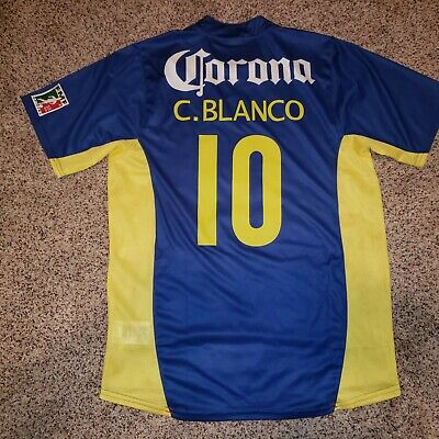 $100 • Buy Nike Club America Jersey Away 2005 Cuauhtemoc Blanco