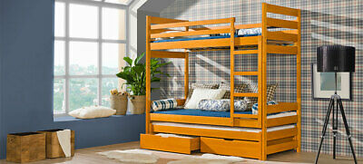 Double Bed Kid's Bed Teen Bed+ Bed Box Bed Pine 2 X Beds Loft Bed • 514.62£