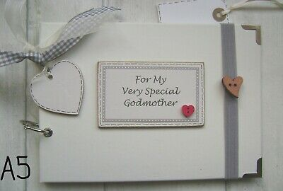 PERSONALISED  PHOTO ALBUM/SCRAPBOOK.MEMORY BOOK. My Very Special Godmother • 12.50£