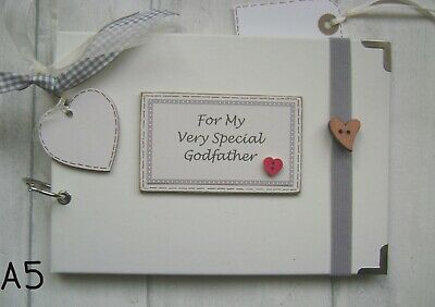 PERSONALISED  PHOTO ALBUM/SCRAPBOOK.MEMORY BOOK. My Very Special Godfather • 12.50£