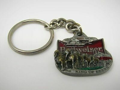 $ CDN39.09 • Buy Vintage Budweiser Keychain 1991 Clydesdale Wagon 1318 Made In USA