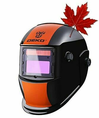 $ CDN46.01 • Buy DEKOPRO Welding Helmet Solar Powered Auto Darkening Hood With Adjustable Shade R