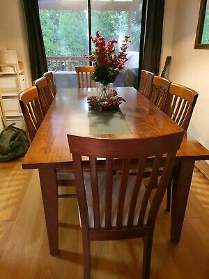 AU325 • Buy Solid Wood Dining Table With 8 Chairs