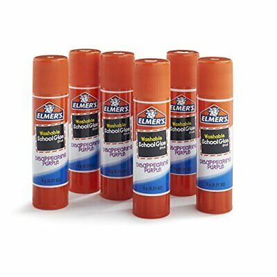 AU32.72 • Buy Elmers Washable School Glue Sticks - Purple 6Pkg-.21Oz