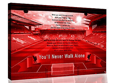 £18.49 • Buy Liverpool Anfield You'll Never Walk Alone CANVAS WALL ART Picture Print Red