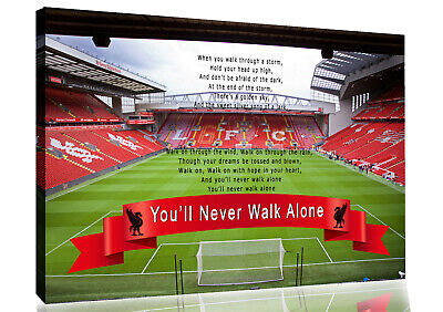 £26.99 • Buy Coloured Liverpool Anfield You'll Never Walk Alone CANVAS WALL ART Print Picture