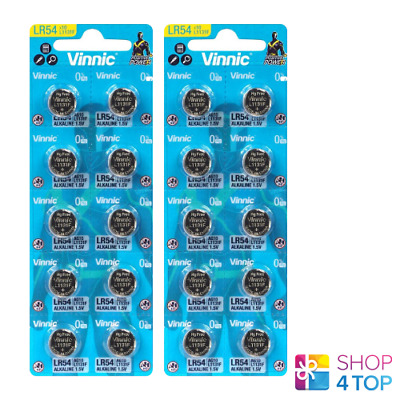 AU5.88 • Buy 20 Vinnic 1131f Lr54 Ag10 Alkaline Batteries 1.5v Watch No Mercury 2025 New