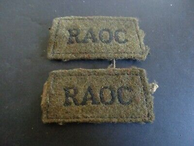 £10 • Buy Ww2 Royal Army Ordnance Corps Cloth Shoulder Titles (officer Quality) (3)
