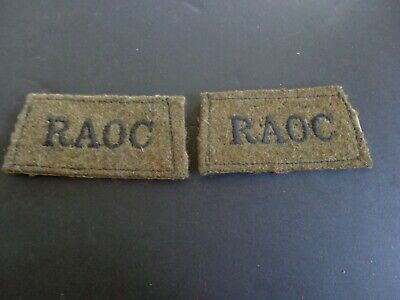 £10 • Buy Ww2 Royal Army Ordnance Corps Cloth Shoulder Titles (officer Quality) (1)