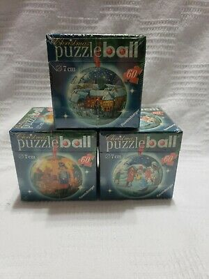 $25.50 • Buy Ravensburger Christmas Puzzle Ball 60 Pieces,7cm Diameter. New & Sealed Lot Of 3