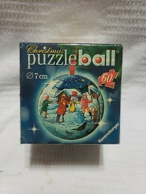 $8.99 • Buy Ravensburger Christmas Puzzle Ball 60 Pieces, 7cm Diameter. New & Sealed Snowman