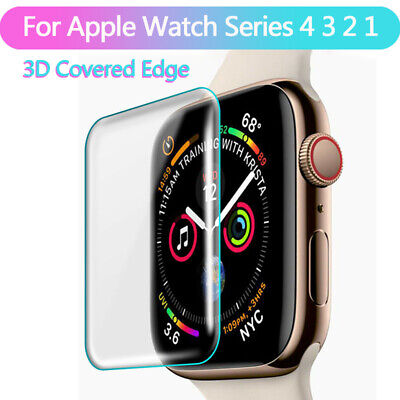 $ CDN0.99 • Buy For Apple Watch Series4 3 2 1 3D Full Cover Tempered Glass Screen Protector Film