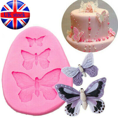 £2.89 • Buy Butterfly Silicone Mould Fondant Cake Topper Mold Chocolate Candy Baking UK