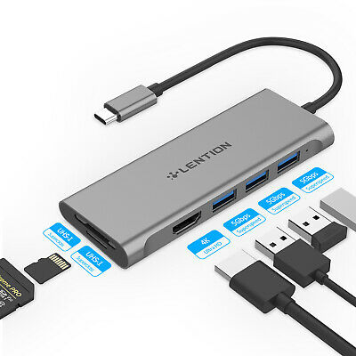 AU49.99 • Buy LENTION 6 Ports USB-C To HDMI USB 3.0 Hub Adapter SD Reader For MacBook Pro