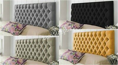 Colchester Bed Headboard In Plush Fabric Single Double King Super King Height 26 • 47.95£