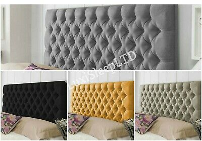 Colchester Bed Headboard In Plush Fabric Single Double King Super King Height 30 • 67.95£