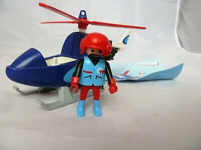 Playmobil 4423 Press Helicopter / TVI News Press Microcopter + Figure • 12.50£