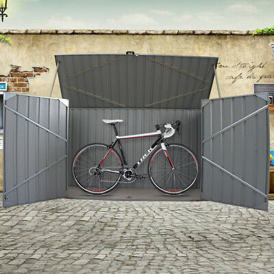 Galvanized Metal Steel Garden Bike Shed Tool Storage Shed Outdoor Bicycle Box • 249.99£