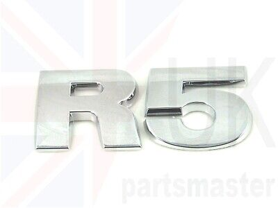 Vw Touareg 2003 - 2010 New Genuine Rear Trunk R5 Chrome Lettering Badge Emblem • 29.68£