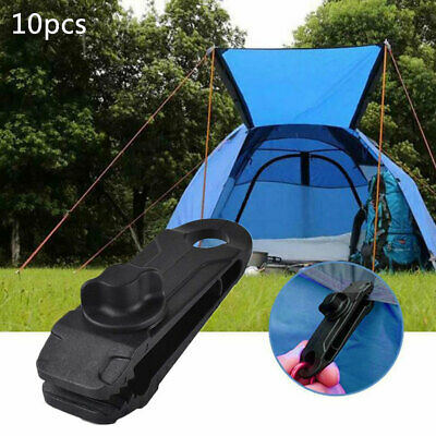 10x Tarp Clips Lock Grip Awning Clamp Set Instant Clip Tent Camping Accessories • 6.64£