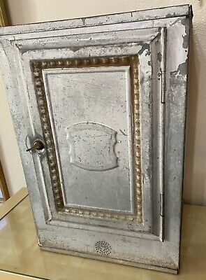 $125 • Buy Vintage Home Comfort Bread & Cake Cabinet / Pie Safe Or Box 1920s Silver Tin