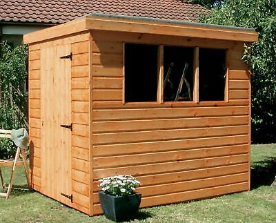 Garden Shed Tongue & Groove Pent Full Heavy Duty Wood Including Roof & Floor • 589£