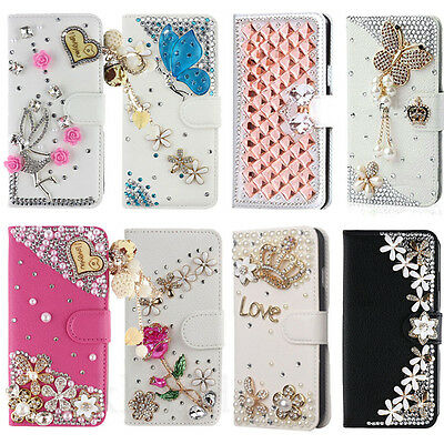 $ CDN12.46 • Buy New Luxury Bling Crystal Flip Leather Wallet Stand Case Cover For Samsung Galaxy