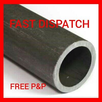 £9 • Buy 60mm X 3mm Mild Steel Circular Hollow Metal Tube Pipe Section Cut Lengths [chs]