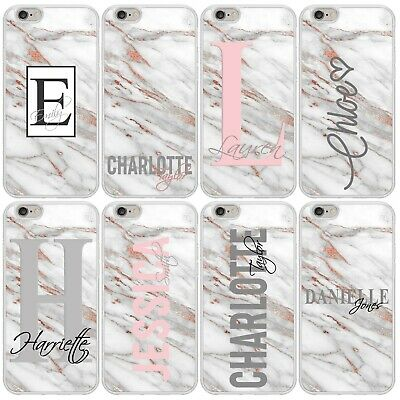 AU40.49 • Buy PERSONALISED MARBLE PHONE CASE COVER For APPLE IPHONE 5 6 7 8 Plus X XR Max 11
