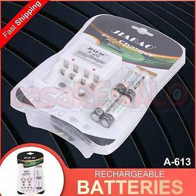 AU24.15 • Buy Rechargeable Batteries NiCD NiMH 4 AA + Battery Charger Recharge