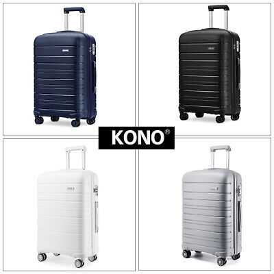 KONO Multi Texture Trolley Travel Case Hand Cabin Luggage Hard Shell PP Suitcase • 27.99£