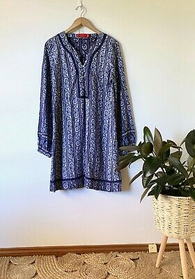 AU40 • Buy TIGERLILY Printed Shift Dress Sz 12 | Ex Cond