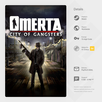 £1.39 • Buy Omerta - City Of Gangsters (PC) - Steam Key [GLOBAL, MULTI-LANG, INSTANT]
